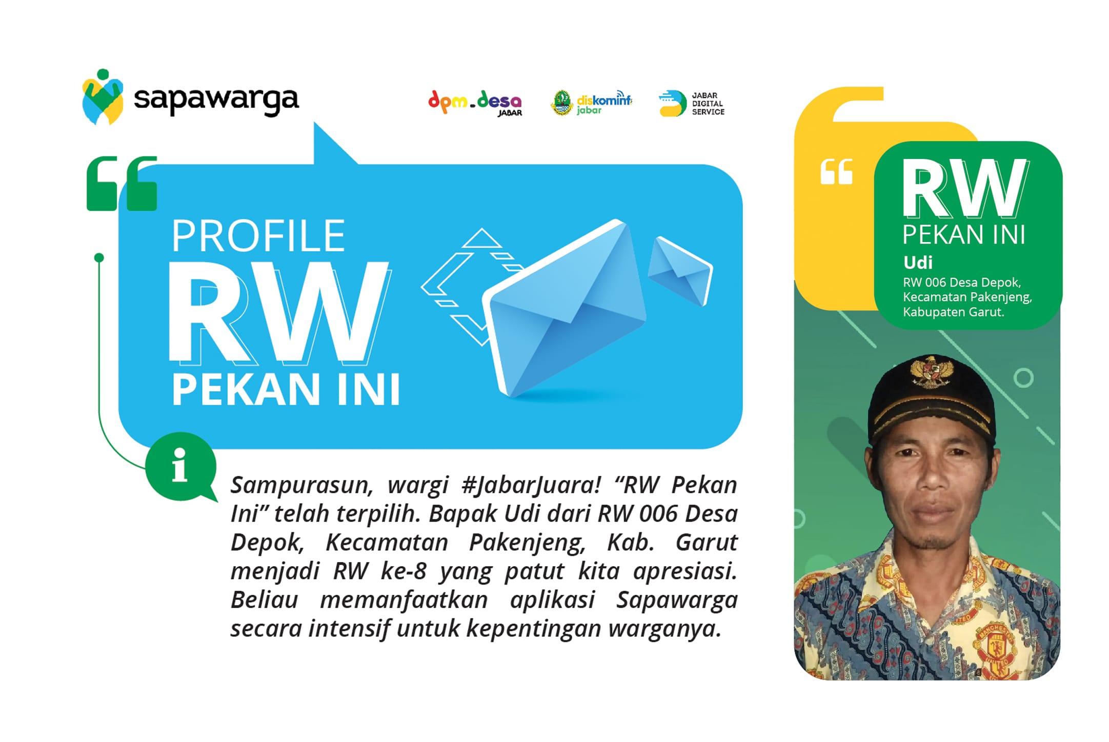 Rw Pekan Ini Bapak Udi Desa Depok Kecamatan Pakenjeng Kabupaten Garut Jabar Digital Service
